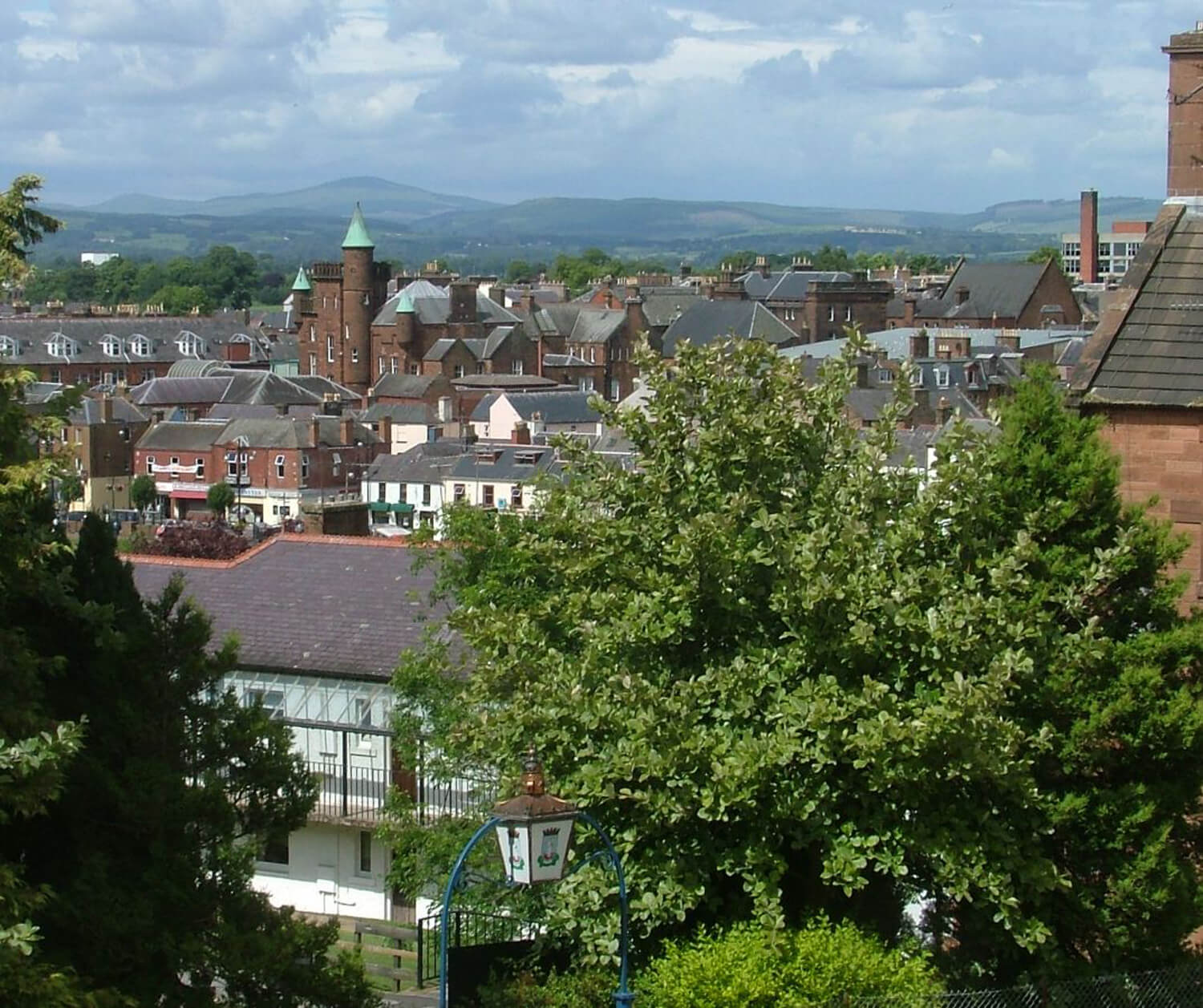 Dumfries, from the Museum. Photo by tom at clearwood.co.uk