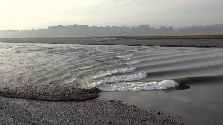 Tidal Bore on The Nith at Glencaple (Click to play Video)
