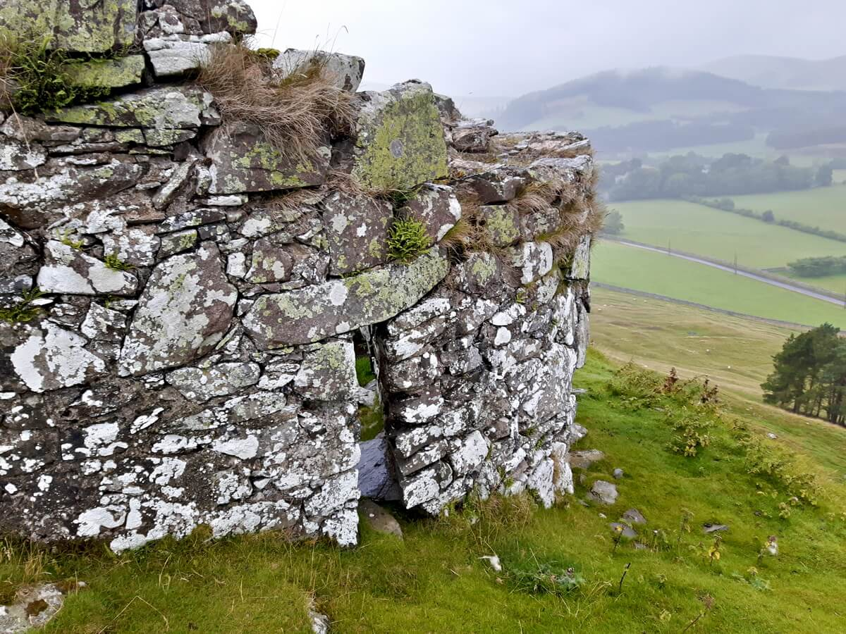 Tinnis Castle Iron Age Hill Fort Ruins